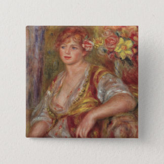 Pierre A Renoir | Blonde Woman with a Rose Button