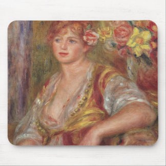 Pierre A Renoir | Blonde Woman with a Rose Mouse Pad