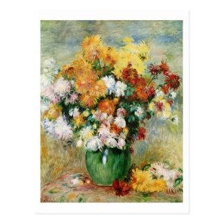 Pierre A Renoir   Bouquet of Chrysanthemums Postcard