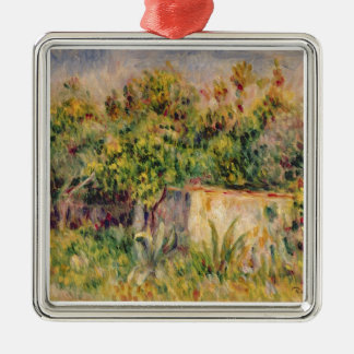 Pierre A Renoir | Cabin in a Clearing in a Wood Metal Ornament