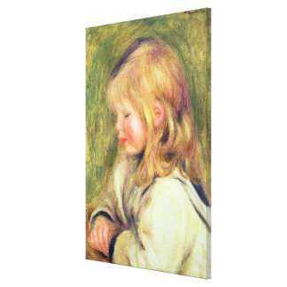 Pierre A Renoir | Child in a White Shirt Reading Canvas Print