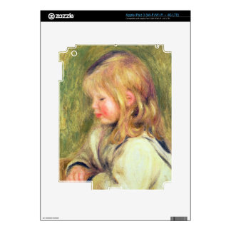 Pierre A Renoir | Child in a White Shirt Reading Decal For iPad 3