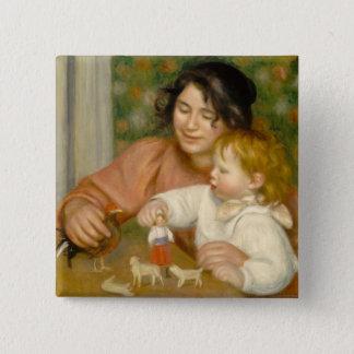 Pierre A Renoir   Child with Toys Button