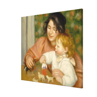 Pierre A Renoir | Child with Toys Canvas Print