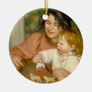 Pierre A Renoir | Child with Toys Ceramic Ornament