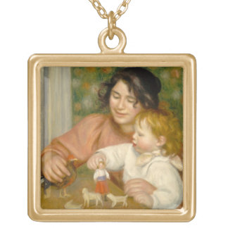 Pierre A Renoir | Child with Toys Gold Plated Necklace