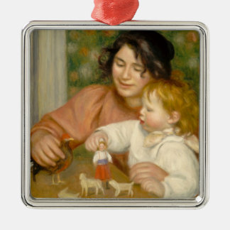 Pierre A Renoir | Child with Toys Metal Ornament