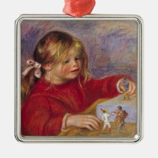 Pierre A Renoir | Claude Renoir at Play Metal Ornament