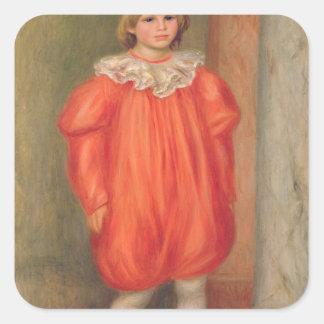 Pierre A Renoir | Claude Renoir in a clown costume Square Sticker