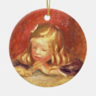 Pierre A Renoir | Coco at the Table  Ceramic Ornament