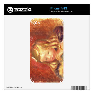 Pierre A Renoir | Coco at the Table  Decal For iPhone 4