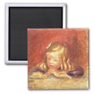Pierre A Renoir | Coco at the Table  Magnet