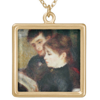 Pierre A Renoir | Couple Reading Gold Plated Necklace
