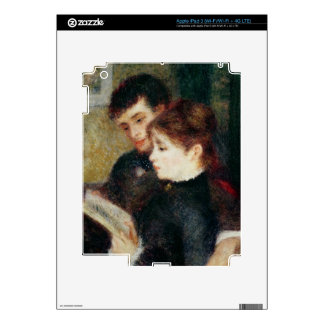 Pierre A Renoir | Couple Reading iPad 3 Decal