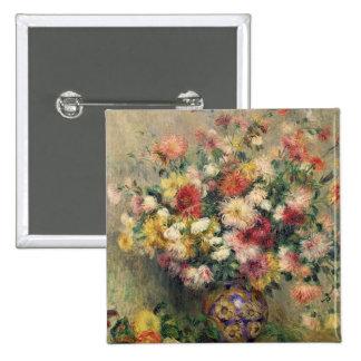 Pierre A Renoir | Dahlias Pinback Button