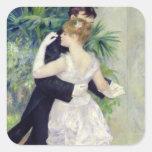 Pierre A Renoir | Dance in the City, 1883 Square Sticker