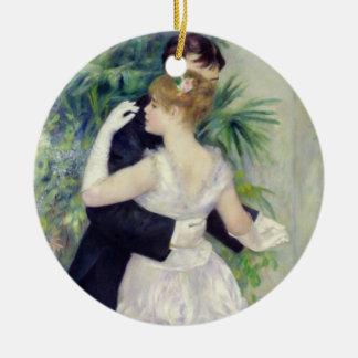 Pierre A Renoir   Dance in the City Ceramic Ornament