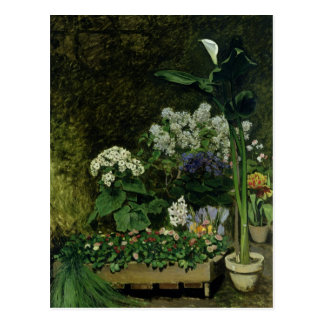 Pierre A Renoir | Flowers in a Greenhouse Postcard