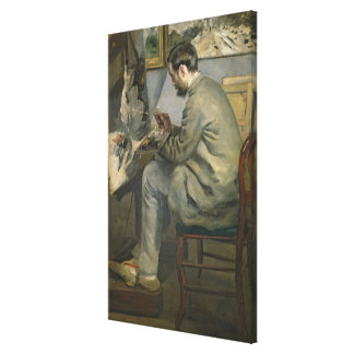 Pierre A Renoir | Frederic Bazille at his Easel Canvas Print