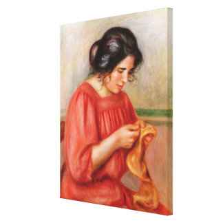 Pierre A Renoir | Gabrielle darning Canvas Print