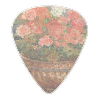 Pierre A Renoir   Geraniums in a Copper Basin Acetal Guitar Pick