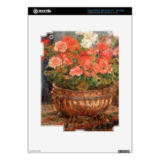 Pierre A Renoir | Geraniums in a Copper Basin iPad 3 Skin