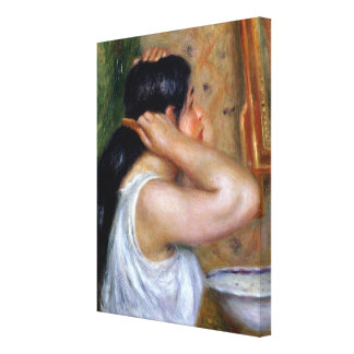 Pierre A Renoir | Girl Combing her Hair Canvas Print