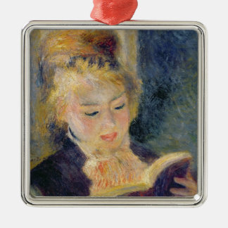 Pierre A Renoir | Girl Reading Metal Ornament