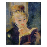 Pierre A Renoir | Girl Reading Poster