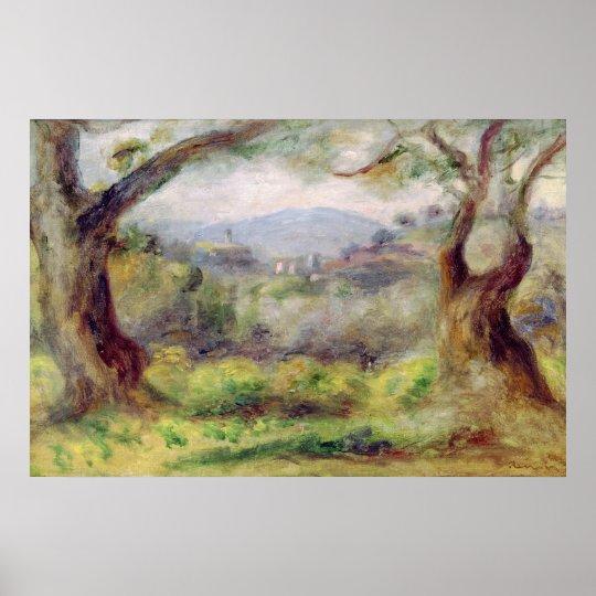 Pierre A Renoir | Landscape at Les Collettes Poster