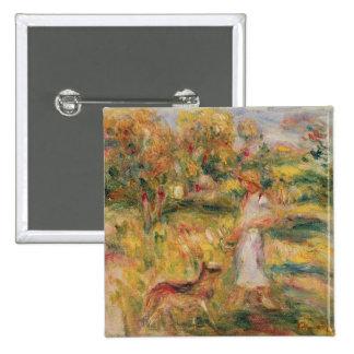 Pierre A Renoir | Landscape with the artist's wife Button