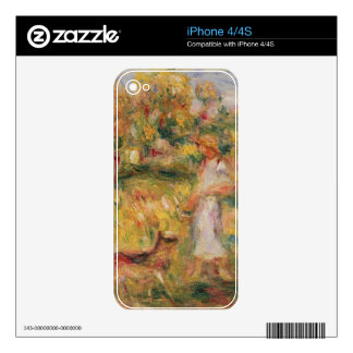 Pierre A Renoir | Landscape with the artist's wife Skins For The iPhone 4
