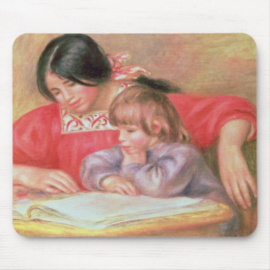 Pierre A Renoir   Leontine and Coco Mouse Pad