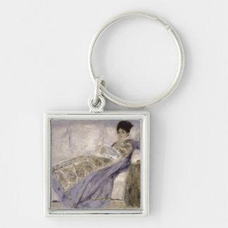 Pierre A Renoir | Madame Monet on a Sofa Keychain