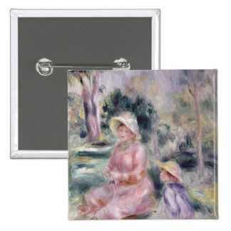 Pierre A Renoir | Madame Renoir and her son Pierre Pinback Button