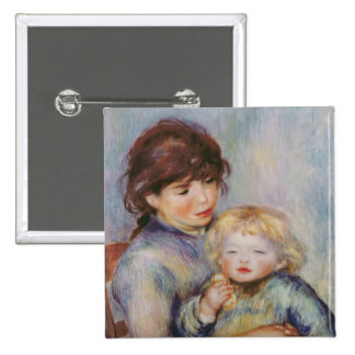 Pierre A Renoir | Maternity, Child with a biscuit Pinback Button