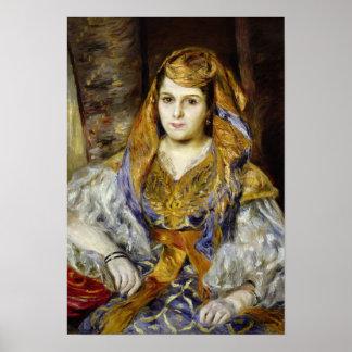 Pierre A Renoir | Mme. C. Stora in Algerian Dress Poster