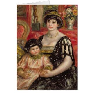 Pierre A Renoir | Mme Josse Bernheim-Jeune and Son Card