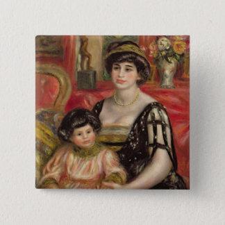 Pierre A Renoir | Mme Josse Bernheim-Jeune and Son Pinback Button
