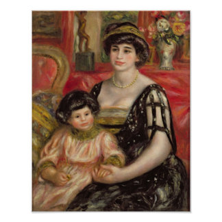 Pierre A Renoir | Mme Josse Bernheim-Jeune and Son Poster