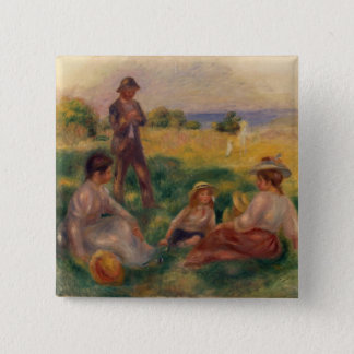 Pierre A Renoir | Party in the Country at Berneval Button