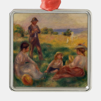 Pierre A Renoir | Party in the Country at Berneval Metal Ornament
