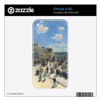Pierre A Renoir | Pont Neuf, Paris Skins For iPhone 4S