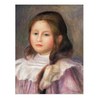 Pierre A Renoir   Portrait of a Child 2 Postcard