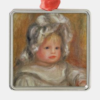 Pierre A Renoir | Portrait of a Child Metal Ornament