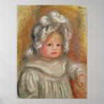 Pierre A Renoir   Portrait of a Child Poster