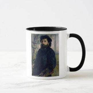Pierre A Renoir   Portrait of Claude Monet, 1875 Mug