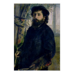 Pierre A Renoir | Portrait of Claude Monet Poster