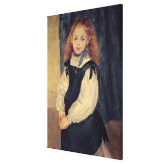 Pierre A Renoir | Portrait of Mademoiselle Legrand Canvas Print