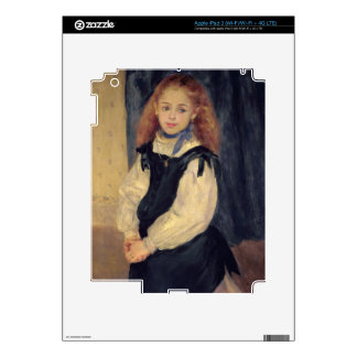 Pierre A Renoir | Portrait of Mademoiselle Legrand Decals For iPad 3